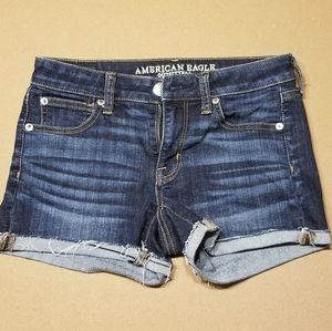 American Eagle darkwash denim shorts